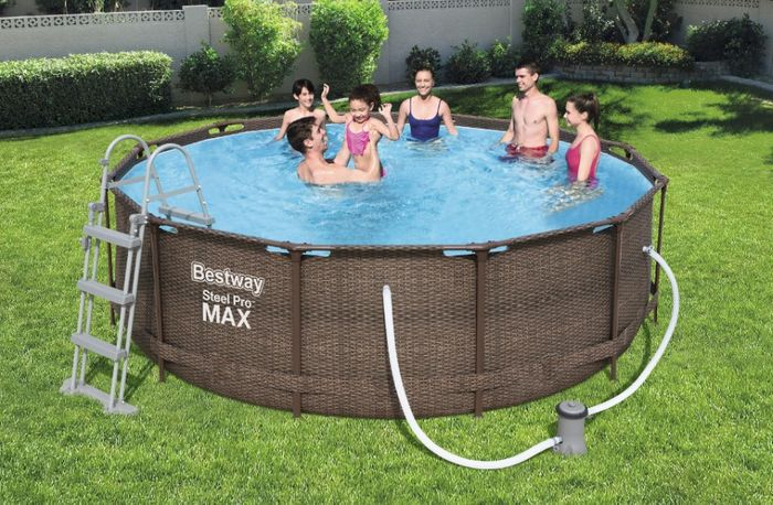Nadzemný bazén Bestway Steel Pro Max Rattan