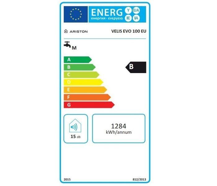 Ariston Velis Evo 100 energetický štítok