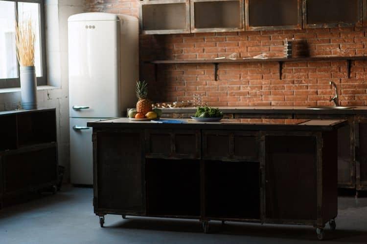 Dvojdverová retro kombinovaná chladnička s mrazničkou