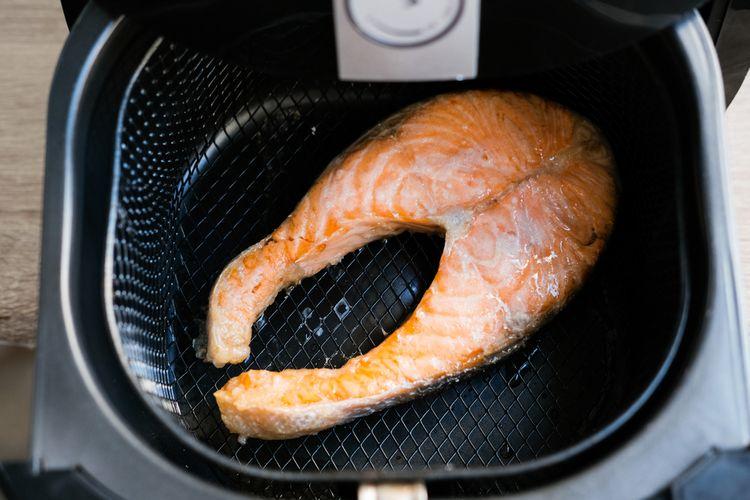 Fritovaný losos v teplovzdušnej fritéze