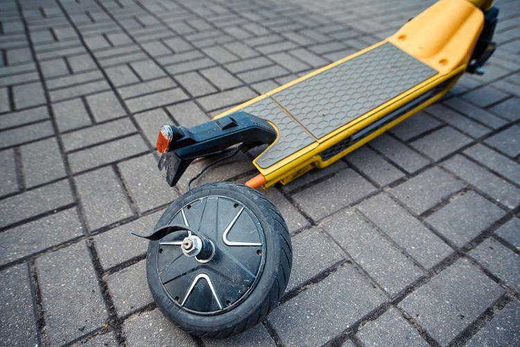 Koloběžka pro dospělé – materiál pneumatik