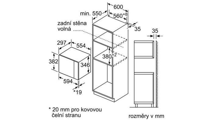 Bosch BFL523MS0 rozmery