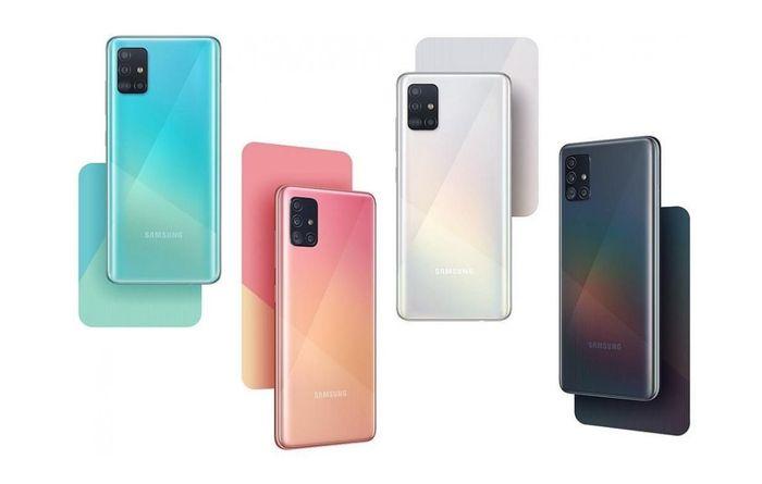 Samsung Galaxy A51 farby