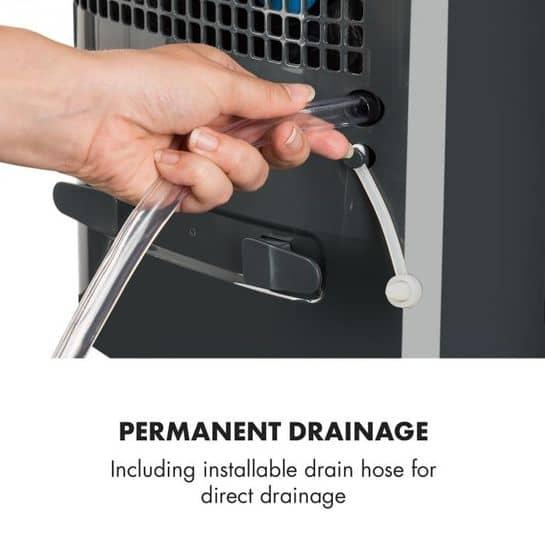 Klarstein DryFy 10 pripojiteľnosť na odpadové potrubie
