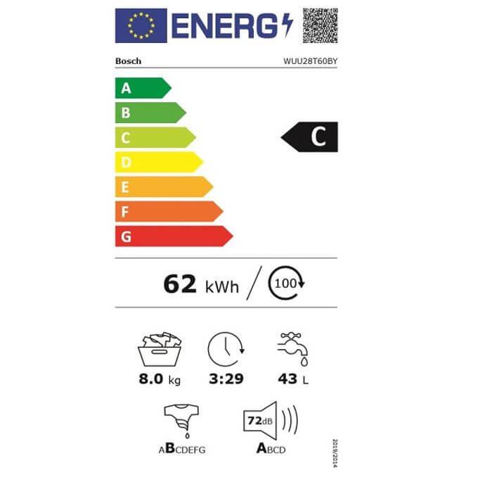 Bosch WUU28T60BY energetický štítok