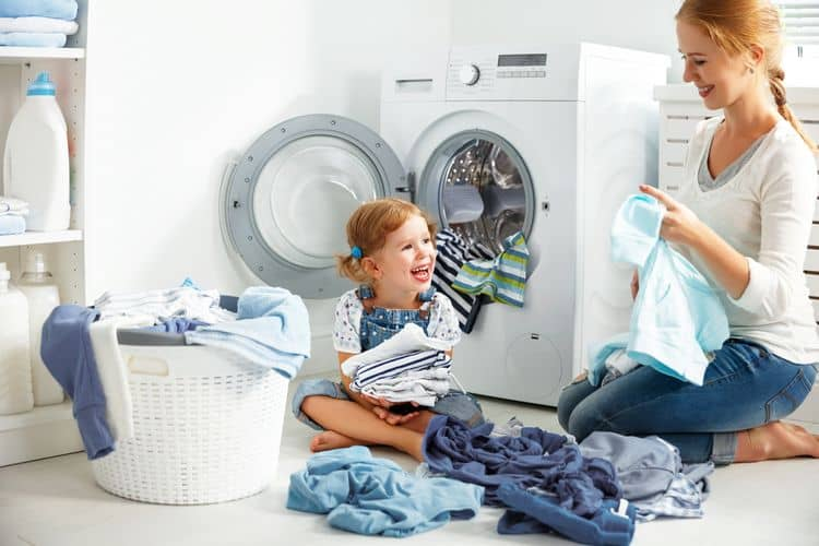 Spredu plnená parná práčky