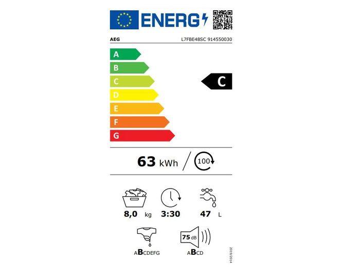 AEG ProSteam L7FBE48SC energetický štítok