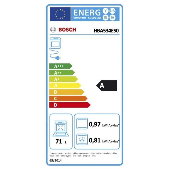 Bosch HBA534ES0 energetický štítok