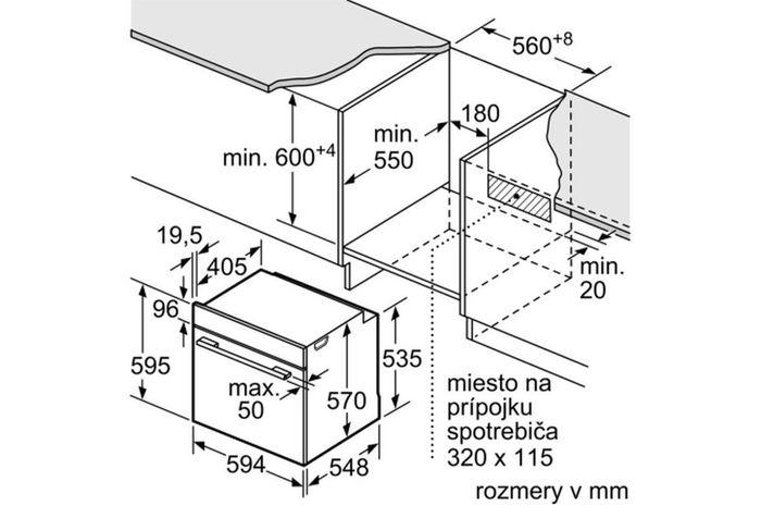 Bosch HBA534ES0 rozmery