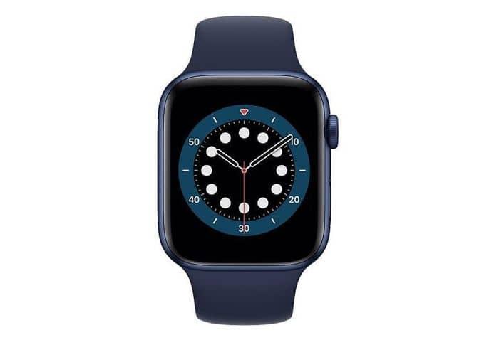 Smart hodinky Apple Watch Series 6 v modrej farbe