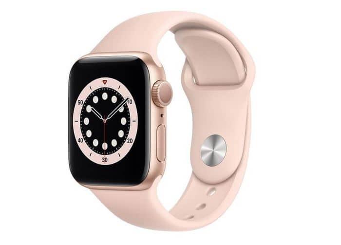 Smart hodinky Apple Watch Series 6 v ružovej farbe