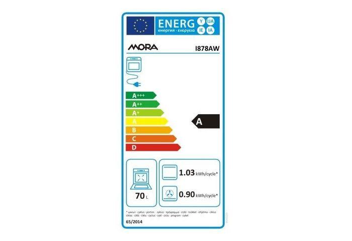 Mora I 878 AW energetický štítok