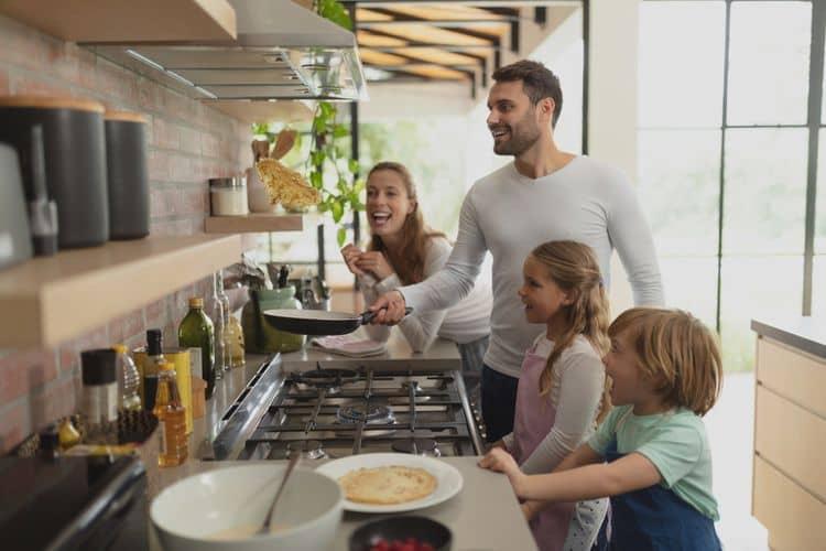Veľký kombnovaný sporák do domácnosti