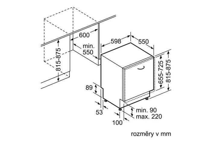Bosch SMV46KX01E rozmery