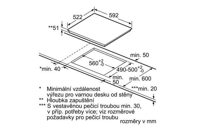 Bosch PUE611BB1E rozměry