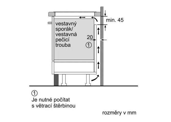 Bosch PUE611BB1E správné umístění