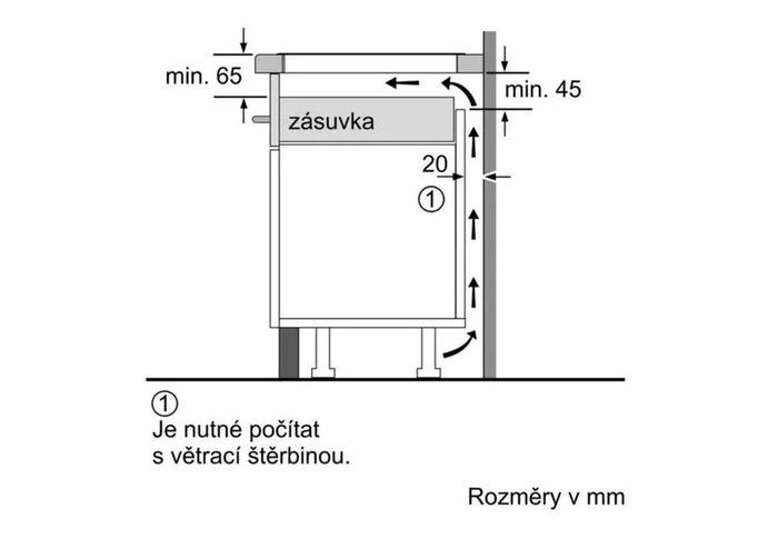 Bosch PUE611BB1E umístění