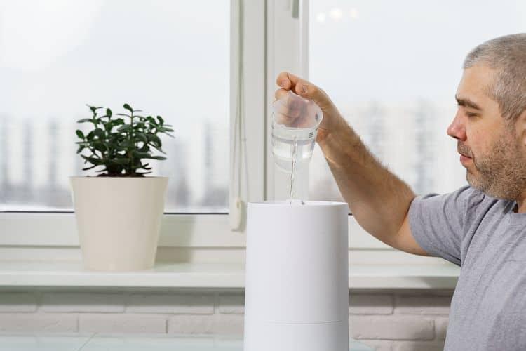 Zvlhčovač vzduchu – Objem nádržky na vodu